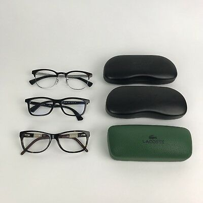Ray Ban Sunglasses Lacoste Eyeglass Frames Lot of 3 With Cases