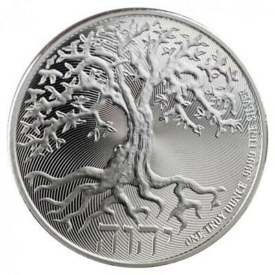 2018 Niue Tree of Life Silver 1 oz Coin - New Zealand Mint - In Capsule