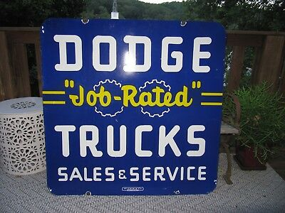 Large Dodge Truck Double Sided Porcelain sign