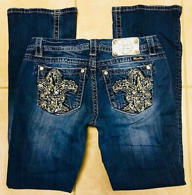 Miss Me Mid Rise Easy Boot Stretch Blue Jeans size 30 x 31