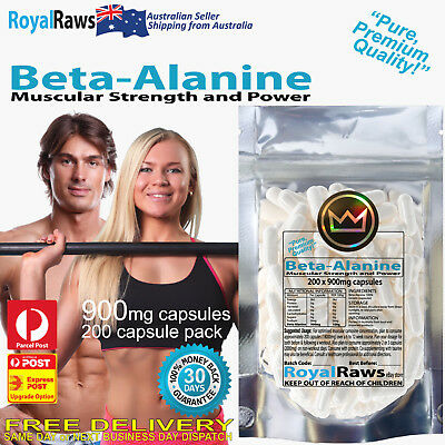 Beta-Alanine 200 x 900mg capsules │Boost Muscular Strength Physical Performance