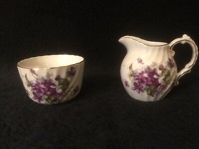Berkshire Viceroy China Flower Creamer and Sugar Bowl