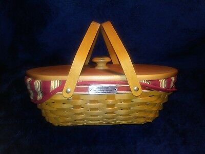 Longaberger 2006 Christmas Collection Nature's Garland Basket W/ Lid and Liner