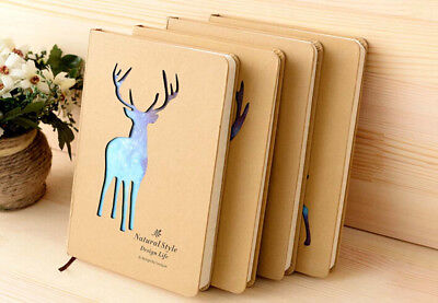 Sky Deer Hard Cover Cute Diary Lined Paper Pocket Notebook Journal Planner Gifts