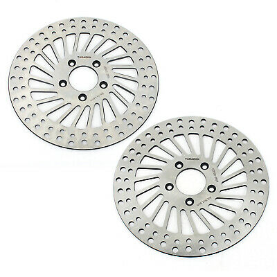 L+R Front Brake Discs Rotors For Sportster 883 XL 05-10 Touring 1450 FLTR 00-07