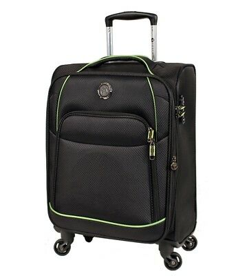 Tosca Sky High 20in Carry on Suitcase Black/Lime