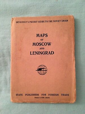 Intourist's Pocket Guide to the Soviet Union--Rare Maps of Moscow and Leningrad!
