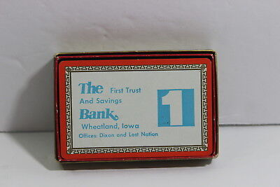 The First Trust And Savings Bank Wheatland Iowa Deck Of Playing Cards In Box IA