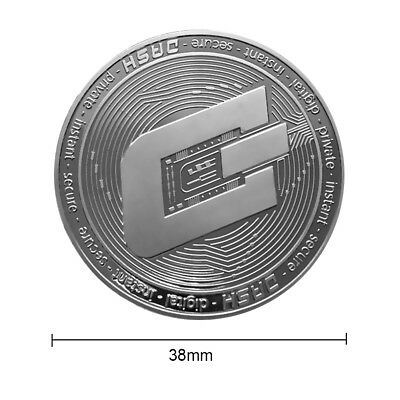 Silver Plated Dash Coin Commemorative Coin Miner Collectible Gifts 38mm Souvenir