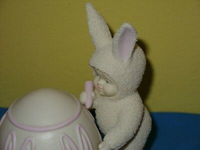 Dept 56 Snowbunnies  I'll Color The Easter Egg #26212  Easter Egg So Cute New!