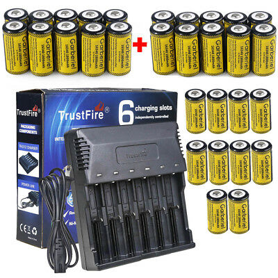 30Pcs CR123A 1800nAh 3.7V Li-Ion Rechargeable Batteries for Arlo Security Camera