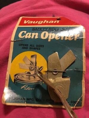 Vintage Vaughn's Improved Safety Roll Jr. Can Opener - USA Made - Free Shipping