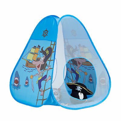 Blue Pirate Pop Up Play Tent for Children Ages 3 and Up, Indoor and Outdoor