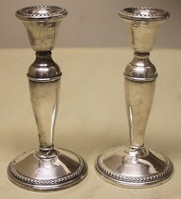 Rogers Vintage  Sterling Silver - 3000 Weighted Candlesticks Pair