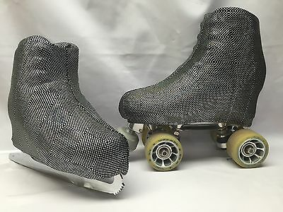 Kaleidoscope  Boot Covers for RollerSkates and Ice Skates  SMALL  ONLY