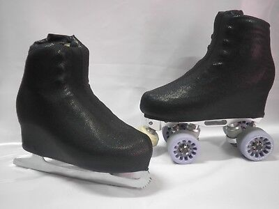 Digital Black Boot Covers for Roller Skates/Ice Skates SMALL  ONLY