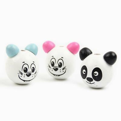 DIY Train shape Wooden Beads Loose Beads Kids Toys Pacifier Clip Accessorie 24mm