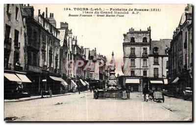 CPA Tours Fontaine de Beaune Place du Grand Marche Beaune Founian Great Market P