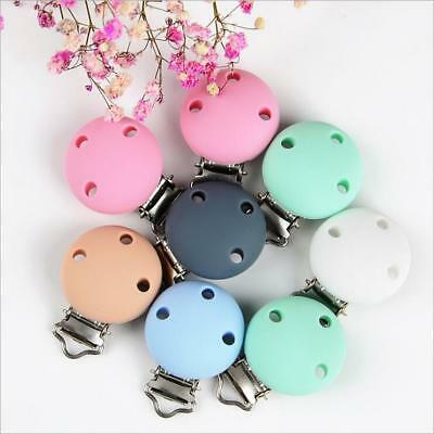 1X Safety Silicone Baby Pacifier Clip Baby Teething Chew Toys DIY Pacifier Chain