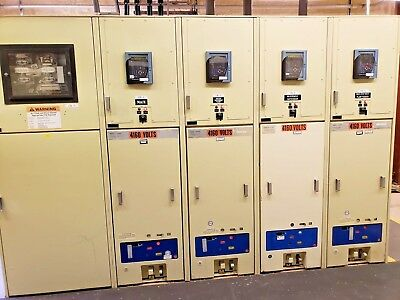 General Electric Magne-Blast  5KV Switchgear lineup with GE Multilin 750