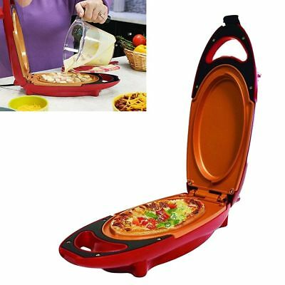 5 Minute Chef Electric Cooker Red Copper Pan Double-Coated Smokeless Non-stick