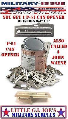 1 NEW P-51 Can Opener John Wayne Military Issue P51 By Shelby Co. USA Army USMC