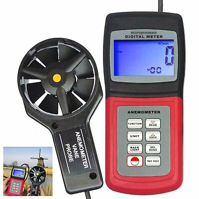 Anemometer 3 Range Air Flow Thermometer Wind Speed Meter Marine Applications