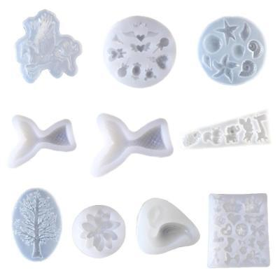 Silicone Clear Mold Polymer Clay Resin Casting Crafts Jewelry Making Mould DIY