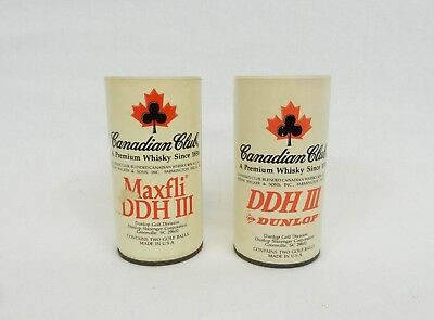 Vtg Canadian Club Whisky Promotional Golf Balls Advertising Dunlop DDH III USA