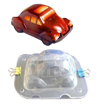 3D Car Shape Plastic Chocolate Mold Polycarbonate Candy Mould Cake Bake Tool DIY