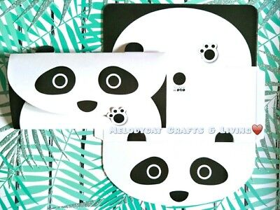 LETTER WRITING SET, CARDSTOCK ENVELOPES SEALS! Cute Pandas