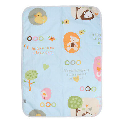 Infant Waterproof Urine Mat Cover Breathable Cotton Washable Baby Changing Mat