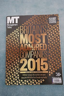 Management Today Magazine: Dec 2015/Jan 2016, Britain's Most Admired Companies