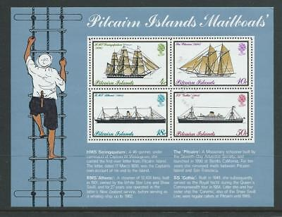 Pitcairn SG MS161 1975 Mail Boats Mini Sheet Unhinged Mint