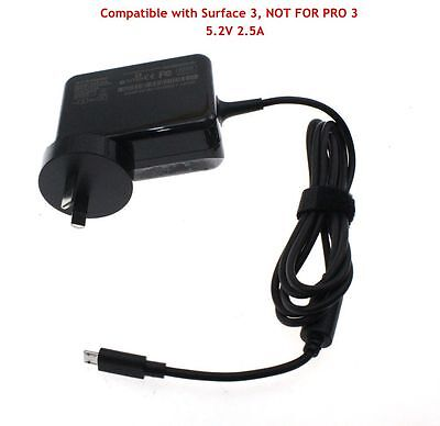 AC Adapter Wall Power Supply Charger for Microsoft Surface 3 Windows Tablet AU