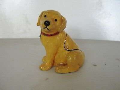 Hidden Treasure Trinket Box,labrador Puppy, With Chain.