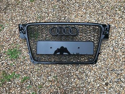 Audi A4 S4 S-Line Rs4 Style B8 Radiator Bumper Grille Honeycomb 2008-2011