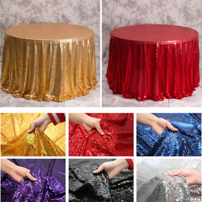 Glitter Sequin Table Cloth Curtain Cover Wedding/Party/Banquet Decor 48''/120cm