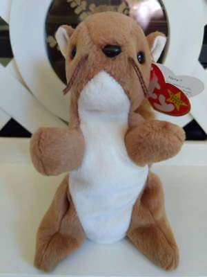TY Beanie Baby ~ NUTS Squirrel ~ NWT Retired with PE Pellets