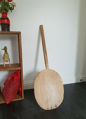 Antique bakery wooden bread pizza board paddle  primitives dough paddle European