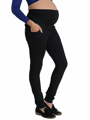 Skinny Black Maternity Jeans, Over Bump, Petite, Long, Plus Size for Pregnancy