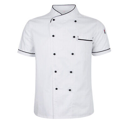 Summer Durable Chef Jacket Coat Service Bakery Uniform Short Sleeve Chef Apparel