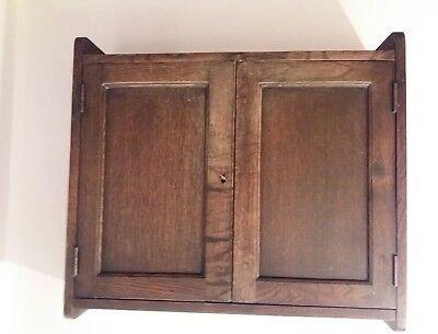 Solid Oak Arts & Crafts Wall Cabinet