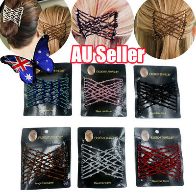 Magic Elastic Hair Comb Hairstyle Design Accessories Strong Hairpins Beads BO