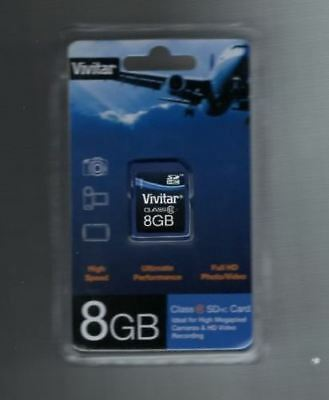 Vivitar 8Gb Sd Sdhc Class 6 Memory Card Digital Camera Camcorder Viv-Sd6-8Gb New