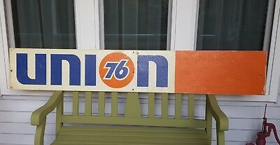 """Vintage UNION 76 Gas Service Station Wall Sign 72"""" Fiberglass UNOCAL"""