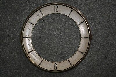 Vintage Clock Chapter Ring/Dial/Face, 165mm Arabic Numerals spares/repairs/parts