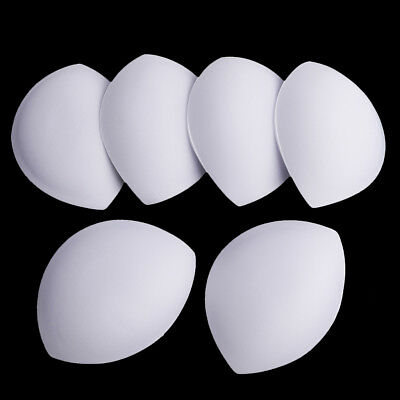 3 Pairs Insert Push Up Sponge Bra Inserts Removeable Bra Pad Yoga Sports Bra
