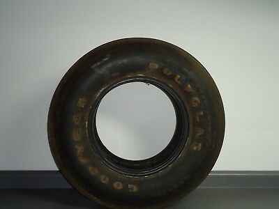 "Vintage Tire Goodyear Polyglas Custom Power Cushion F78-15 15"" Good Used Shape"