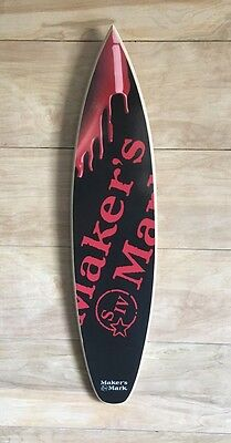 "Makers Mark Bourbon Whisky 23"" Surfboard"